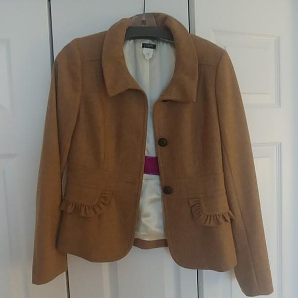 J. Crew Jackets & Blazers - JCrew camel colored wool blazer size 4